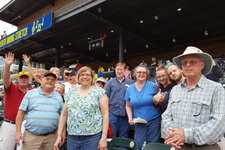 Church members at a baseball game