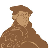 Drawing of Martin Luther