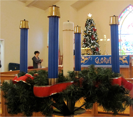 The church being decorated