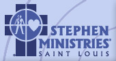 Stephen Ministries Saint Louis logo with cross